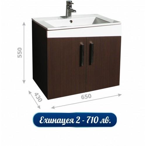 Долен шкаф за баня с HPL покритие и мивка - Ехинацея