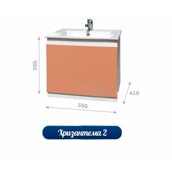 Долен шкаф за баня с мивка - Хризантема