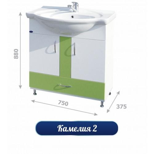 Долен шкаф за баня с мивка - Камелия