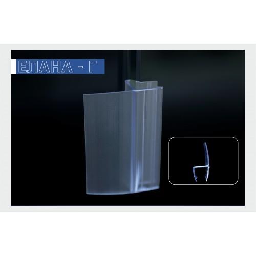 Силиконов уплътнител за душ кабини и стъклени врати - 8 мм.  H003