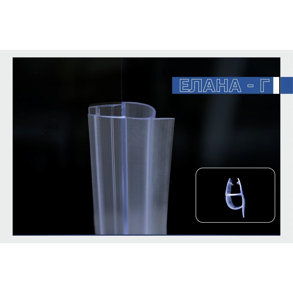 Силиконов уплътнител за душ кабини и стъклени врати - 8 мм.  С балонче -H007