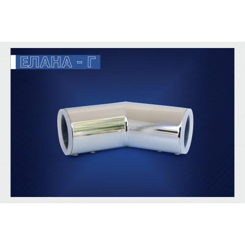 Конектор /тръба - тръба/ 135°. Хром.