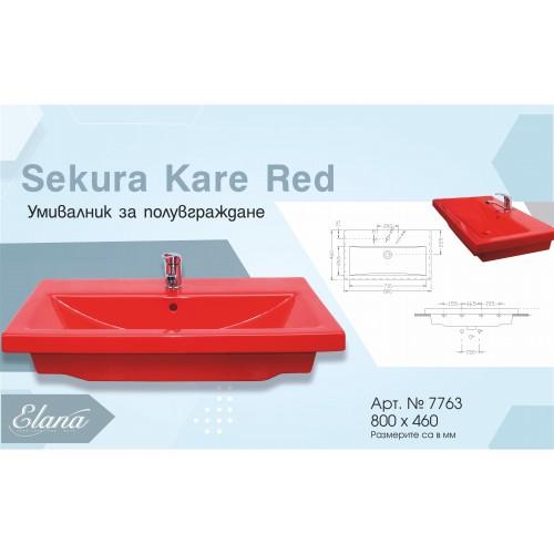 Умивалник  Sekura Kare Red