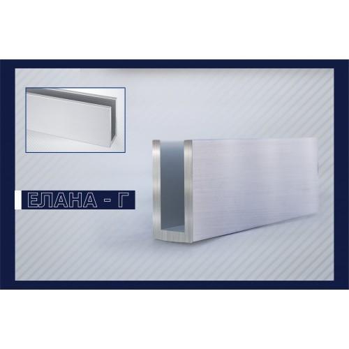 П-образен алуминиев профил за стъкло 30 мм